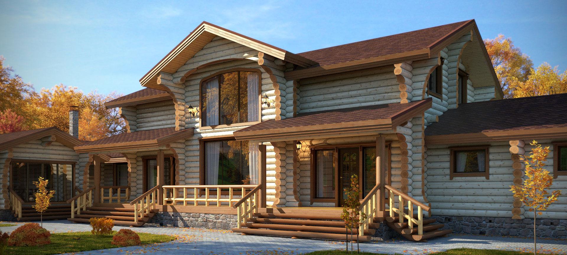 красивые дома из бревна фото и проект наживать себе